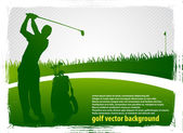 Golf vector background_1 — Stock Vector
