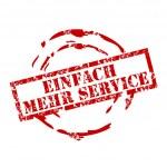 Einfach mehr service rubber stamp — Stock Vector #6428948
