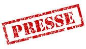 Presse stamp — Stock Vector