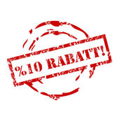 Rabatt — Stock Vector