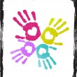 Royalty-Free Stock  : Abstract colorful lover hands vector.