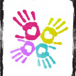 Royalty-Free Stock Vectorielle: Abstract colorful lover hands vector.