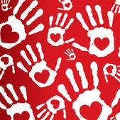 Love print hands — Stock Vector