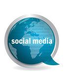 Social media speech cloud — Stock Vector