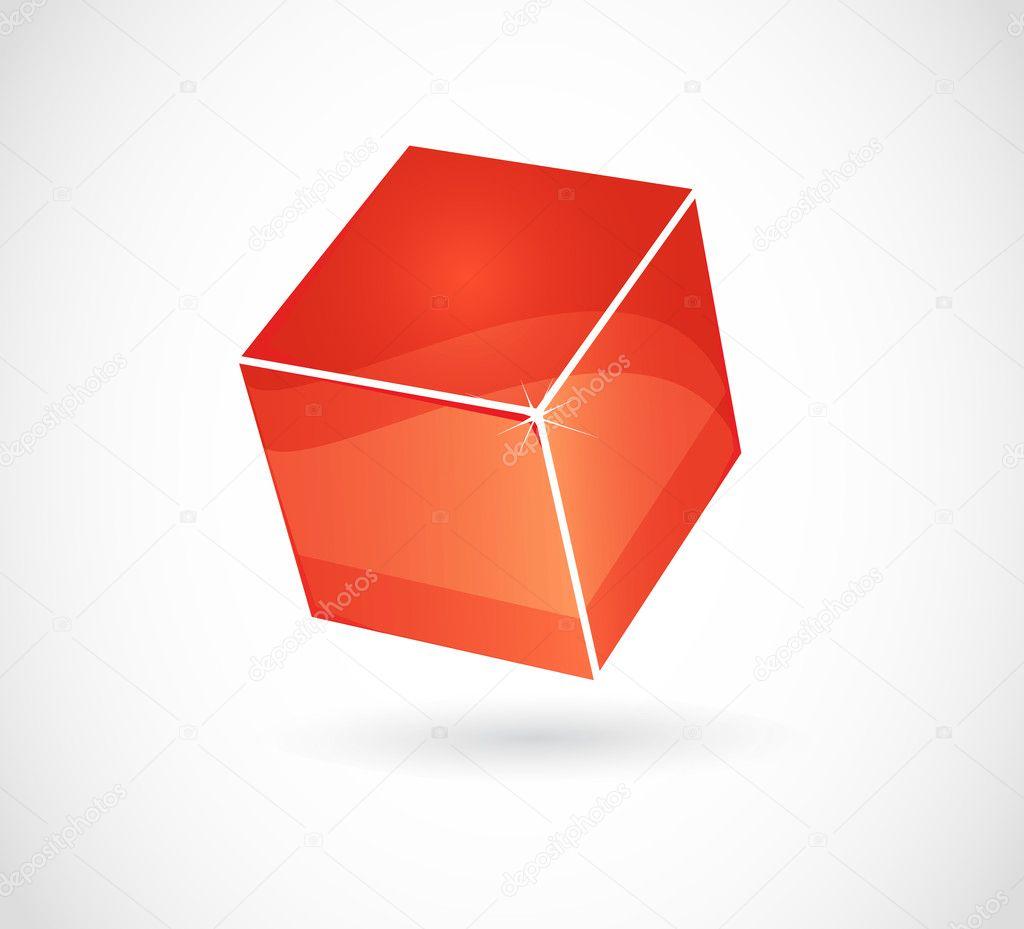 3d red cube — Stock Vector © burakowski #6676249