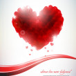 Abstract love background — Image vectorielle
