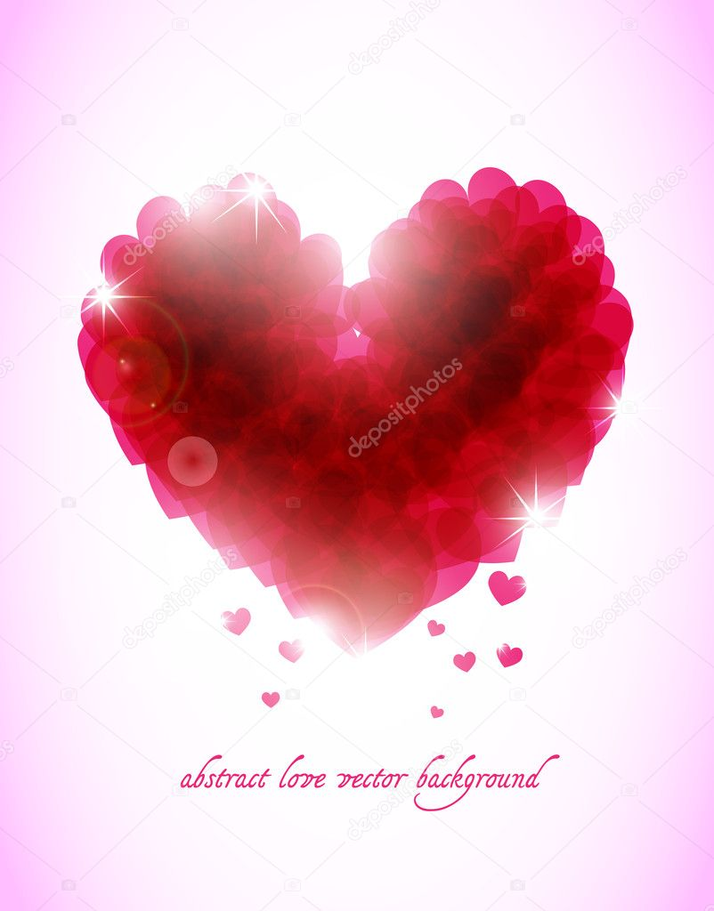Abstract valentine vector background with hearts — Stock Vector #6732903