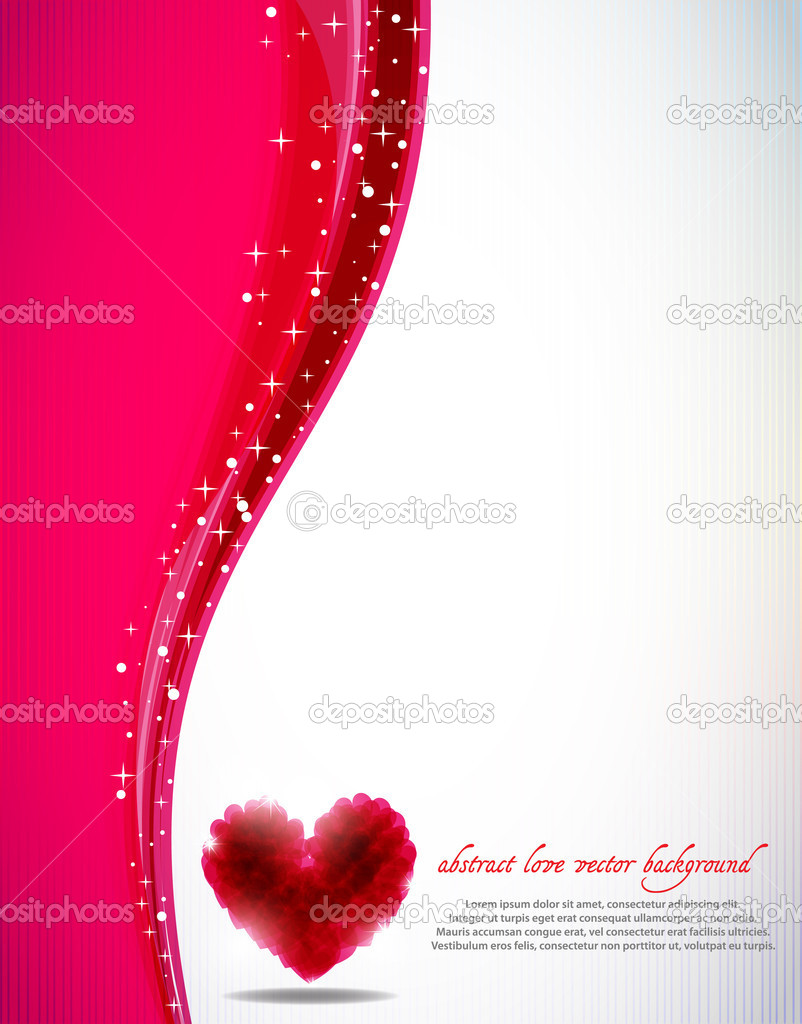 St. Valentine's abstract vector background  Stock Vector #6732911