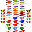 Flags of the different countries. - Stock Vector