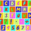 Stock Vector: Multicolored alphabet.