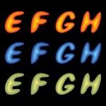 Постер, плакат: Letters EFGH
