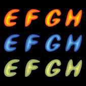 Letters EFGH. — Stock Vector