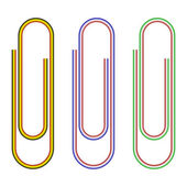 Striped paperclips. — Stock Vector