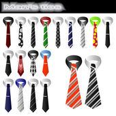 Man's ties — Stock Vector