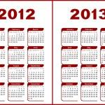 Calendario 2012,2013 — Vector de stock