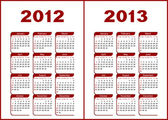 Calendario 2012,2013. — Vector de stock