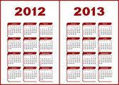 Calendar 2012,2013. — Vettoriale Stock