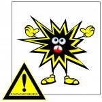 Danger sign. — Stock Vector #6457518