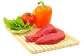 Beef and vegetables — Stock Photo