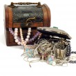 Treasure chests with jewelry — Stock Photo