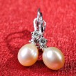 Pearl earrings — Stock Photo