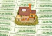 Casa em centenas dólares — Foto Stock