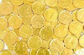 Euro na złote monety tło — Zdjęcie stockowe
