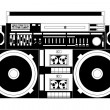 Stock Vector: Old school boombox