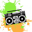Old school boombox - Stock Vector