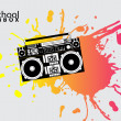 Old school boombox — Stock Vector #5706937