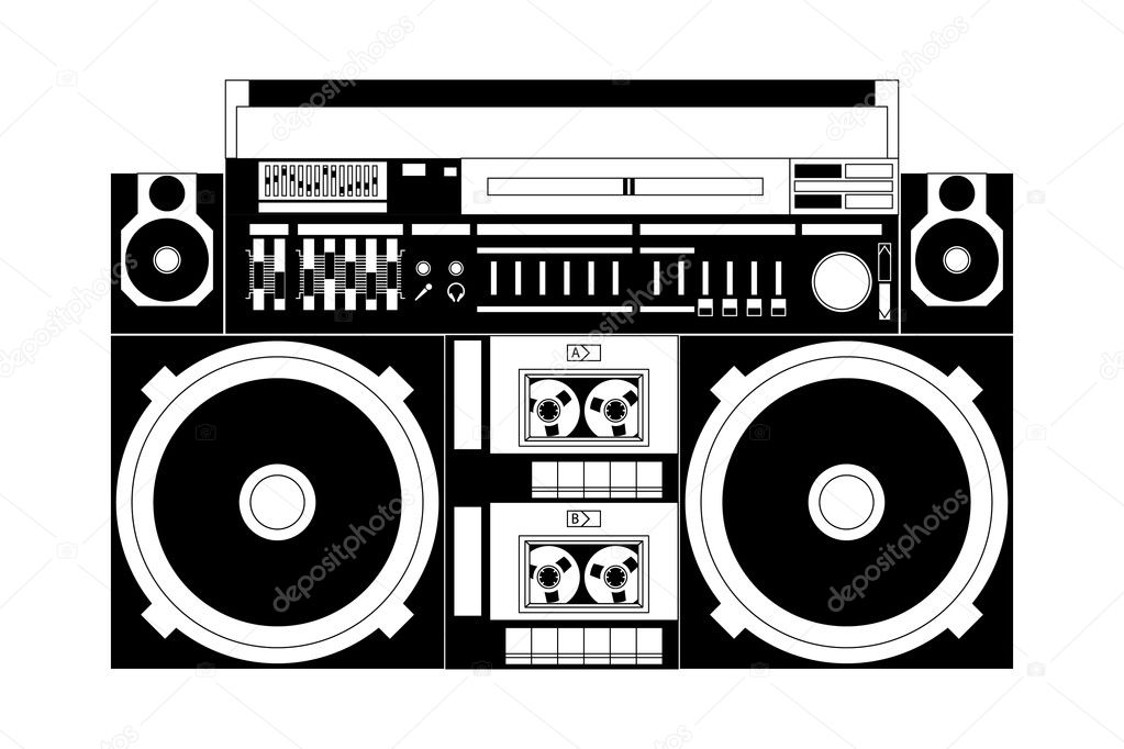 Vector image of a classic boombox  Stock Vector #5706898