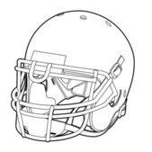 American football helmet — Stock Vector