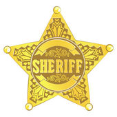 Sheriff star — Stock Vector