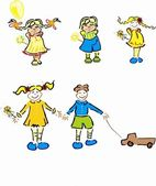 Stylized vector various children collection — Stock Photo
