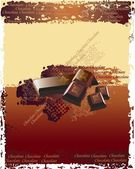 Vector chocolate background decorated with ornaments — Stock Photo