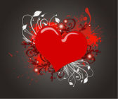 Red heart on the grunge background — Stock Photo
