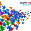 Origami birds abstract background - 图库矢量图片