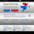 Royalty-Free Stock Imagen vectorial: Business website editable template