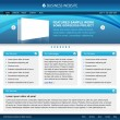 Royalty-Free Stock Imagen vectorial: Blue web design template