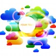 Stock Vector: Abstract clouds design