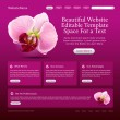Beauty website template — Stock vektor