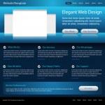 Elegant business blue website template — Stock Vector