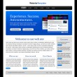 Business blue website template — Stock Vector
