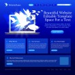 Blue website template — Imagen vectorial