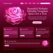 Stock Vector: Beauty website template
