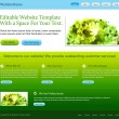 Green website template — Image vectorielle