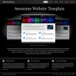 Black stylish website template for designers — 图库矢量图片
