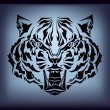 Vector tribal tiger — Stock Vector