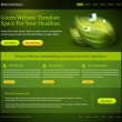 Green website template — Stock vektor