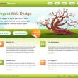 Green web site template - editable — Stockvectorbeeld